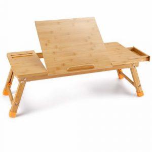Bamboo Adjustable Table Breakfast Serving