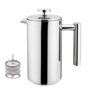 Highwin Small Stainless Steel French Press - 3 Cups (4 oz Each) Coffee