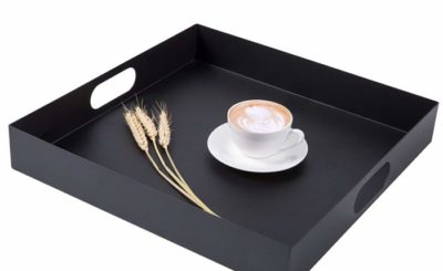 Square metal Breakfast Serving Tray