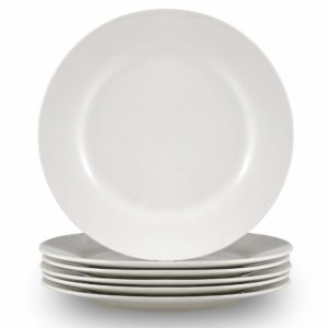 Cutiset Breakfast Plates – Set of 6 – White (10.5 inch, Round)