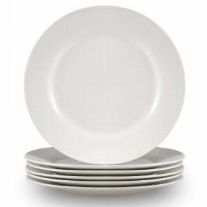 Cutiset Breakfast Plates – Set of 6 – White (10.5 inch, Round)